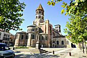 Basilica St. Julien at the town of Brioude, Auvergne, France, Europe