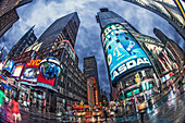 Times Square in der Abenddämmerung, 42th, Broadway, Manhattan, New York City, New York, USA
