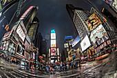 Times Squarein der Abenddämmerung, Broadway, Manhattan, New York City, New York, USA