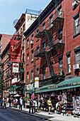 Restaurants und Läden, Little Italy, New York City, New York, USA