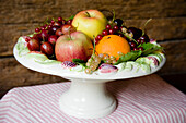 Fruit bowl with apples, oranges and redcurrants, Fruit