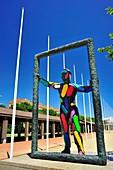 Escultura El Marc Robert Llimós, homenaje a su hijo Marc, replica de la escultura Thereshold situada en la Underground Festival Plaza de Atlanta Estados Unidos en conmemoración de los Juegos olímpicos de 1996, Vila olímpica, Barcelona, Catalunya, España
