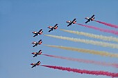 Airshow of the Patrulla Aguila from Spanish Air Force, Festa al Cel 2011, Barcelona, Spain