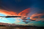 Interesting cloud formations forming over the island of South Georgia in the Southern Ocean. Interesting cloud formations forming over the island of South Georgia in the Southern Ocean  MORE INFO South Georgia is a British overseas territory in the southe