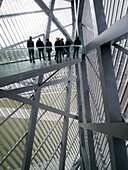 Viewing platform at Military Historical Museum of the Bundeswehr MHM in Dresden Saxony Germany after renovation by Architect Daniel Libeskind