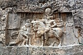 Reliefs of Sassanian kings 3rd century, Naqsh-e Rustam, Fars province, Iran