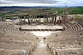 Roman theatre 168 AD, Dougga Thugga, UNESCO World Heritage Site, Tunisia