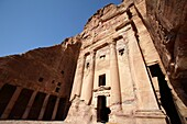 The Urn tomb, one of the royal tombs in Petra, Jordan