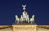 The quadriga on the Brandenburg Gate, Berling, Germany