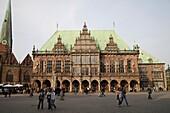 town hall and market place Bremen - Bremen, Deutschland, Free Hanseatic City of Bremen, Germany