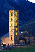 Romanesque church of Sant Climent lit -Taüll - Vall de Boi - Pyrenees - Lleida Province - Catalonia - Cataluña - Spain