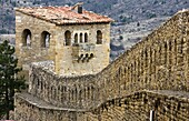 Walls of the medieval town of Morella – Els Ports - Castellon province – Comunidad Valenciana – Spain - Europe