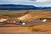 Krafla Geothermal Station, Krafla Volcanic Zone, Myvatn lake, Iceland