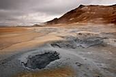 Geological field of Hverir, Lake Myvatn, Iceland