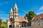 The St Mary´s Church is a late Romanesque three-aisled basilica dating back to 1225 and recalls in its construction of the Naumburg Cathedral Freyburg Unstrut, Saxony Anhalt, Germany, Europe