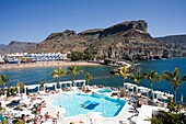 Picturesque and colourful ´Puerto De Mogan´ in Gran Canaria in the Canary Islands