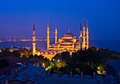 The ´Blue Mosque´ Sultan Ahmet Camii  Istanbul, at night