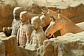Asia,China, Shaanxi,Xian,Bingmayong,the Terracotta Army at the time of Emperor Qin Shi Huang