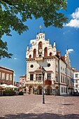Antique Town Hall at the Market Square in Rzeszow, Poland, Europe