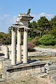 Roman Temple at Ruined Roman City of Glanum Saint-Rémy-de-Provence Alpilles Provence France