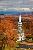 Autumn at the Congregational Church in Peacham, Vermont, USA