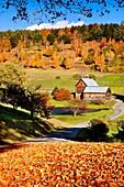 Autumn at the beautiful Sleepy Hollow Farm near Woodstock, Vermont, USA