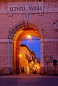 The Northern entrance - Porta Romana, in Norcia Umbria Italy