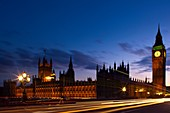 England, Greater London, City of Westminster  The iconic ´Big Ben´ also known as the Clock Tower, part of the House of Parliament building also known as the Palace of Westminster, located in the City of Westminster, London