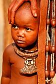 Himba boy, with the typical necklace, Kaokoland, Kunene region, Namibia