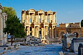 Picture of The library of Celsus  Images of the Roman ruins of Ephasus, Turkey images  Stock Picture & Photo art prints