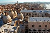 Arial view of saint Mark´s square and basilica with Doge´s Palace - Venice - Italy