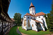 Prejmer  German: Tartlau Fortified Church, one of the best preserved of its kind in Eastern Europe was built by the Teutonic Knights in 12 12. Brasov, Transylvania. UNESCO World Heritage Site