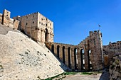 The gatehouse of the Citadel of Aleppo, Syria