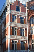 Former offices of Sunday Post People´s Friend and People´s Journal in Fleet Street, London, UK