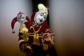 A buffoon clown poses at the 16th International Clown Convention: The Laughter Fair organized by the Latino Clown Brotherhood, in Mexico City, October 20, 2011