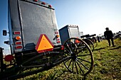 Amish buggy for sale during the Annual Mud Sale to support the Fire Department in Gordonville, PA