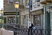 Old-Fashioned Shops On A Reconstructed Period Street, Facade Of The Maison Du Biscuit, Sortosville-En-Beaumont, Manche (50), France