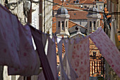 Laundry Hung Out To Dry Between The Buildings Of The Old Town Of Dubrovnik, Dalmatian Coast, Croatia, Europe