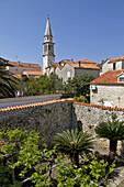 Enclosed Garden, Old Fortified Town Of Budva (Stari Grad), Adriatic Coast, Montenegro, Europe