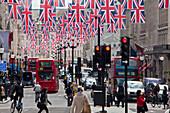 UK, London City, Regent Street, the Queen´s jubilee celebrations