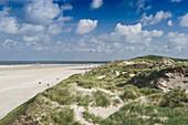 Beach and sand unes near Norddorf, Amrum, North Frisian Islands, Schleswig-Holstein, Germany