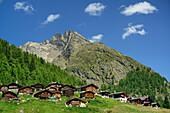 Alpine village in Loetschental valley, Bernese Alps, Valais, UNESCO World Heritage Site Swiss Alps Jungfrau-Aletsch, Switzerland