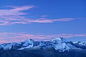 View from Sidelhorn to Rothorn and Blinnenhorn, Bernese Alps, Bernese Oberland, UNESCO World Heritage Site Swiss Alps Jungfrau-Aletsch, Switzerland