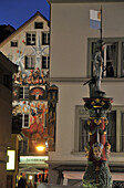 Häuser in der Altstadt am Abend, Luzern, Schweiz, Europa