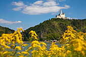 Marksburg castle, Unesco World Cultural Heritage Site, near Braubach, Rhine river, Rhineland-Palatinate, Germany