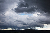 Thunderclouds over the Weser Hills, Lower Saxony, Germany