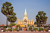 Asia, Laos, Vientiane, Pha That Luang, Temple, Temples, Buddhist, Buddhism, religion, Buddhist Temple, Holiday, Vacation, Tourism, Travel. Asia, Laos, Vientiane, Pha That Luang, Temple, Temples, Buddhist, Buddhism, religion, Buddhist Temple, Holiday, Vaca