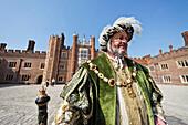 UK, United Kingdom, Great Britain, Britain, England, London, Surrey, Hampton Court Palace, Hampton Court, Palace, Palaces, Henry VIII, Costume, Period Costume, Tourism, Travel, Holiday, Vacation. UK, United Kingdom, Great Britain, Britain, England, London