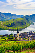 Germany, Europe, travel, Moseltal, Moselle, Valley, Bremm, agriculture, bend, church, Mosel, tourism, valley, village, vineyard, wine, agriculture. Germany, Europe, travel, Moseltal, Moselle, Valley, Bremm, agriculture, bend, church, Mosel, tourism, valle