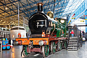 UK, United Kingdom, Great Britain, Britain, England, Europe, National Railway Museum, Train, Trains, Locomotive, Transport, Museum, Museums, Historical, Interior. UK, United Kingdom, Great Britain, Britain, England, Europe, National Railway Museum, Train,